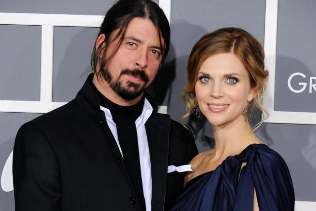 Dave Grohl et son épouse Jordyn Blum.... (Photo: AP)