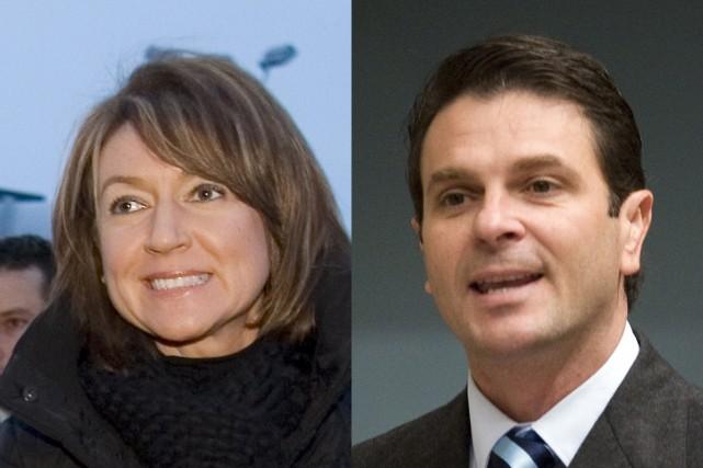 Nathalie Normandeau et François Bonnardel.... (Photomontage Cyberpresse)