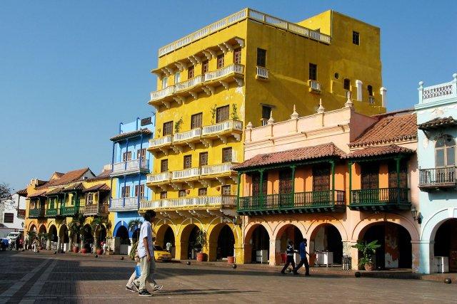 Les couleurs: c'est ce qui frappe à Carthagène,... (Photo: Philippe Mercure, La Presse)