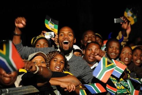 À Johannesburg, la fête battait son plein, des... (Photo AFP)