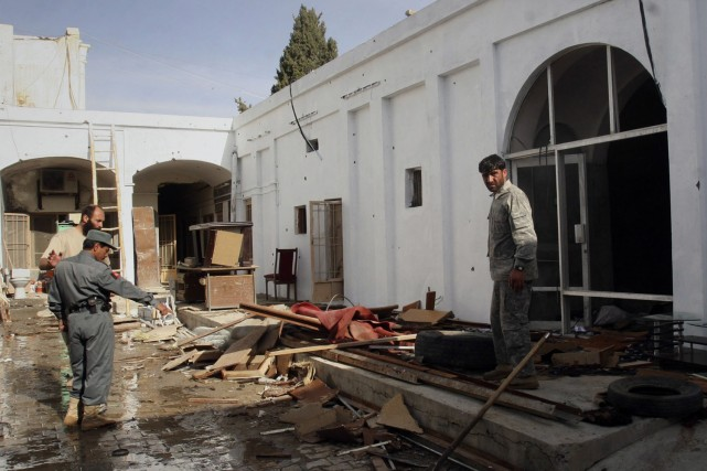 L'attentat-suicide contre le palais du gouverneur de Kandahar... (Photo: PC)