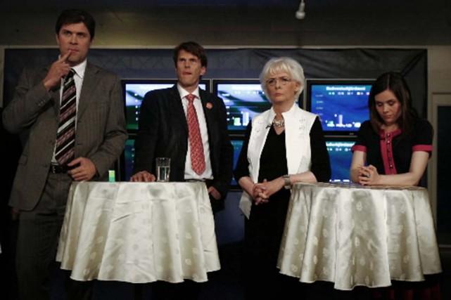 Les quatre candidats au poste de dirigeant islandais... (Photo Reuters)
