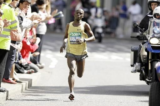 Samuel  Wanjiru a couru les 42,195 km... (Photo: AP)
