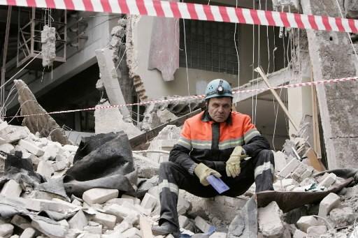 Deux personnes sont mortes dimanche dans l'effondrement dans la capitale... (Photo: Reuters)
