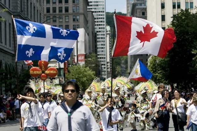 La parade de la Fête du Canada à... (Photo André Tremblay, La Presse)