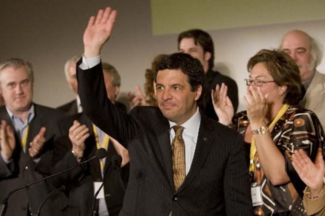 Benoit Labonté lors du congrès de son parti,... (Photo Robert Skinner, La Presse)