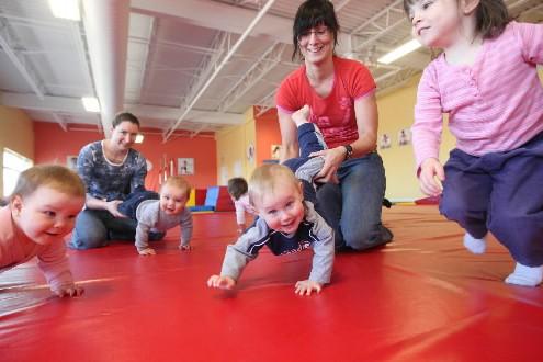 Des tout-petits s'entraînent au Petit Gym du quartier... (Photo: Martin Chamberland, La Presse)