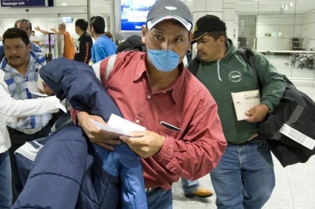 Une cohorte de travailleurs saisonniers mexicains est arrivée... (Photo: André Pichette, La Presse)