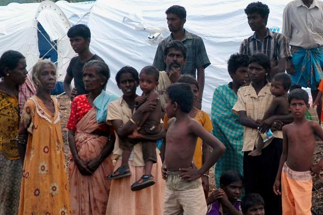 Les réfugiés ayant fui les zones de combats... (Photo: Reuters)