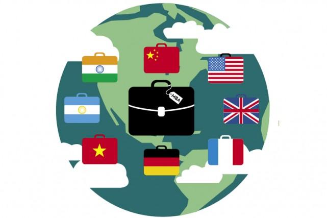 Les MBA pour cadres expérimentés comprennent souvent des volets à l'étranger,... (Illustration Julien Chung, La Presse)