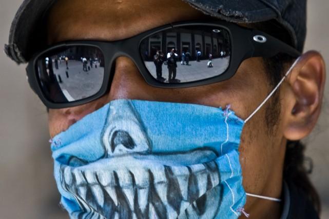 À Mexico, le port du masques est une... (Photo AFP)