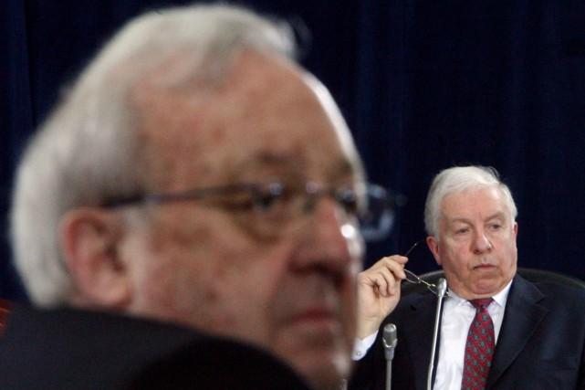 L'ancien chef de cabinet de Brian Mulroney, Fred Doucet, a fondu en larmes, à... (Photo La Presse Canadienne)