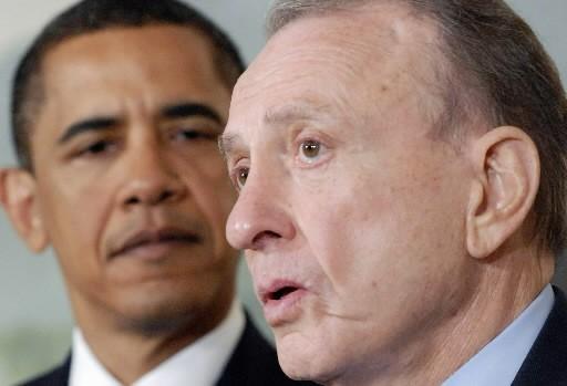 Barack Obama a accueilli Arlen Specter dans son... (Photo: Reuters)
