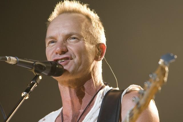 Sting a chanté quelques chansons sur la Lune,... (Photo: André Pichette, La Presse)