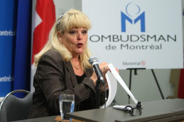L'ombudsman de la Ville de Montréal, Johanne Savard,... (Photo: Martin Chamberland, La Presse)
