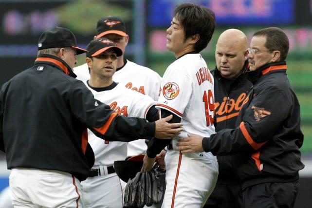 Le partant des Orioles Koji Uehara a quitté... (Photo: Reuters)