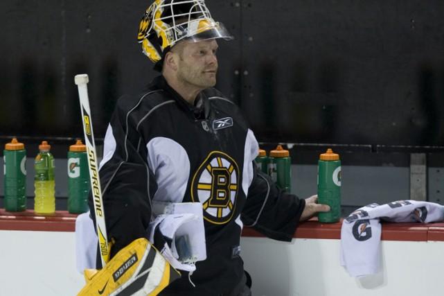 Tim Thomas et les Bruins n'ont pas joué... (Photo: André Pichette, La Presse)