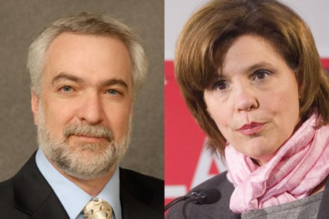 Pietro Perrino et Lisa Frulla.... (Photomontage Cyberpresse)