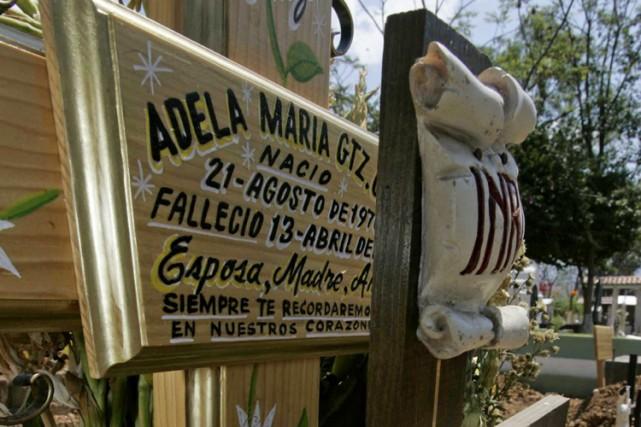 Adela Maria Gutierrez Cruz, qui seraitla première victime... (Photo: AFP)