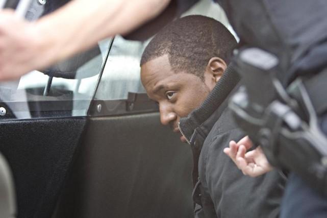 L'un des deux jeunes hommes arrêtés, Noël Johnny... (Photo: Patrick Sanfaçon, La Presse)