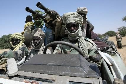 Les membres du JEM, plus puissant groupe rebelle,... (Photo: AFP)
