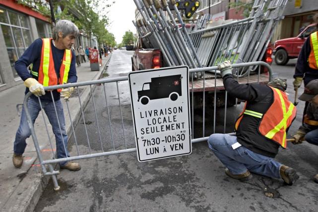 Les cols bleus de la Ville de Montréal... (Photo: Patrick Sanfaçon, La Presse)