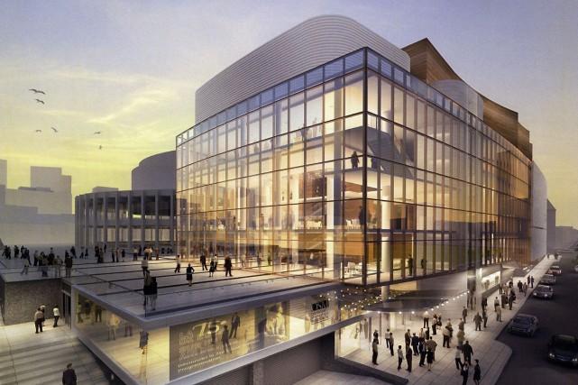 L'architecture extérieure de la nouvelle salle de l'OSM,... (Photo: ministère de la Culture du Québec)