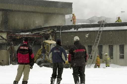 L'incendie de la polyvalente avait causé des dommages... (Photo Bernard Brault, La Presse)