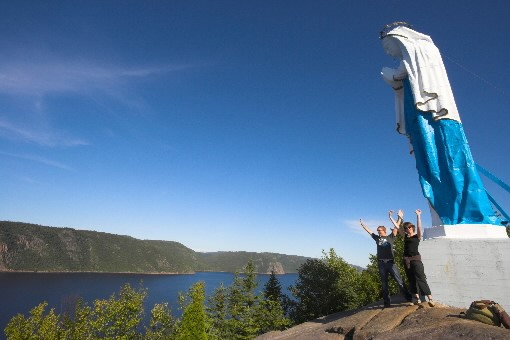 La statue Notre-Dame-du-Saguenay, lieu de départ du nouveau... (PHOTO FOURNIE PAR CHARLES-DAVID ROBITAILLE, PARC  DU  SAGUENAY)