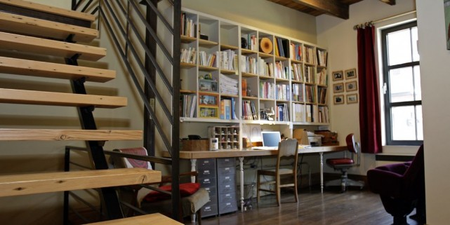 un escalier central pour conomiser l 39 espace marie france l ger le coin du bricoleur. Black Bedroom Furniture Sets. Home Design Ideas