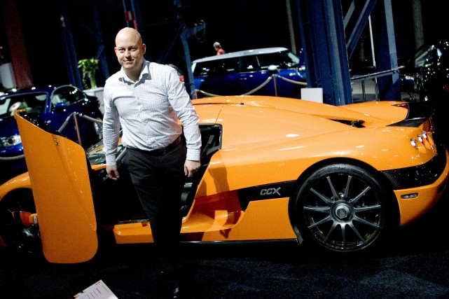Christian Von Koenigsegg, président de la firme Koenigsegg,... (Photo AFP)