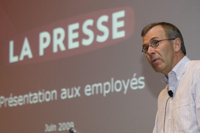 Le président et éditeur de La Presse, Guy... (Photo: André Pichette, La Presse)