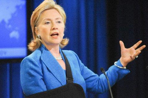 La secrétaire d'État américaine Hillary Clinton... (Photo: AFP)
