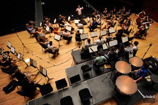 L'Orchestre de la francophonie canadienne interprétera l'été prochain... (Le Soleil, Erick Labbé)