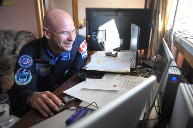 Guy Laliberté prépare son voyage dans l'espace au... (Photo: AFP)