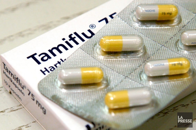 Le Tamiflu s'attaque à une enzyme nommée neuraminidase,... (Photo archives)