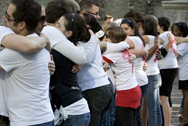 Répondant à Génération d'idées, des jeunes manifestaient pacifiquement... (PHOTO: FRANÇOIS ROY, ARCHIVES LA PRESSE)