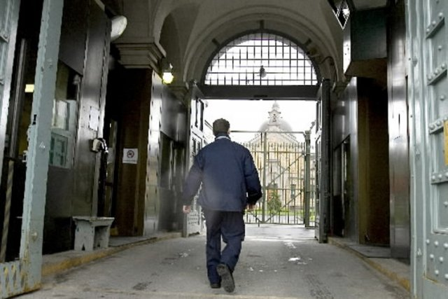 L'entrée principale de la prison de Bordeaux.... (Photo: Archives La Presse)
