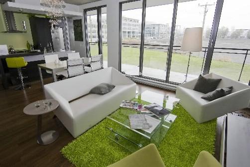 D'une superficie de 720 pieds carré, l'appartement témoin... (Photo: David Boily, La Presse)