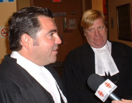 Les avocats de Marco Caron, Me Guy Boisvert... (Collaboration spéciale Ian Bussières)
