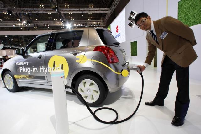 La Suzuki Swift hybride rechargeable.... (Photo Reuters)