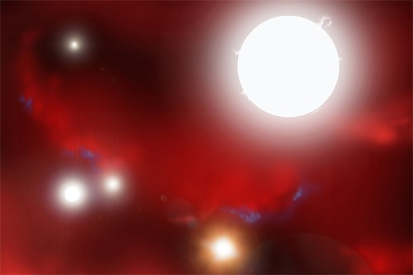 Des étoiles massives se formaient déjà seulement 630... (Photo: Archives REUTERS)