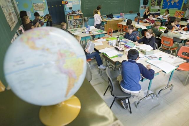 À Montréal, une seule école primaire accueille spécifiquement... (Photo: David Boily, La Presse)