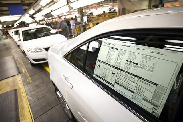 Les dernières Pontiac G6 sur la chaîne de... (Photo: General Motors)