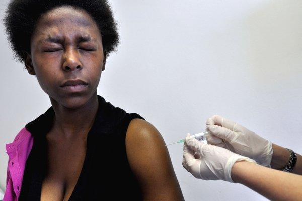 Une femme souffrant du sida, en Afrique du... (Photo AFP)