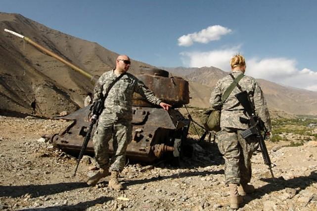 Quelque 68000 soldats américains sont actuellement déployés en... (Photo: Reuters)