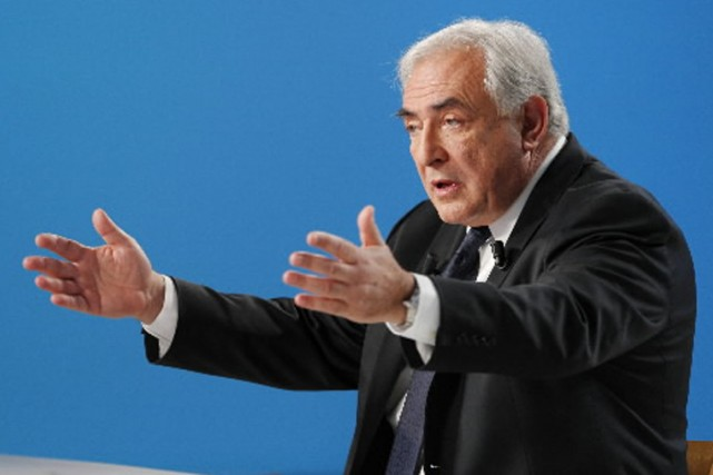 Le directeur général du FMI, Dominique Strauss-Kahn.... (Photo: AFP)