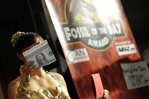 Le canada re oit le 1er prix fossile copenhague for Porte premier prix
