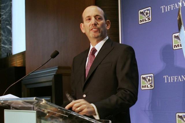 Le commissaire de la Major League Soccer, Don... (Photo: AP)