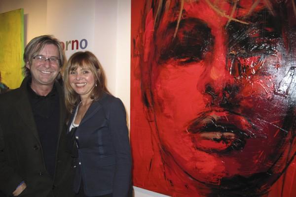 La peintre Corno lors du vernissage.... (Photo Mali-Ilse Paquin, collaboration spéciale)